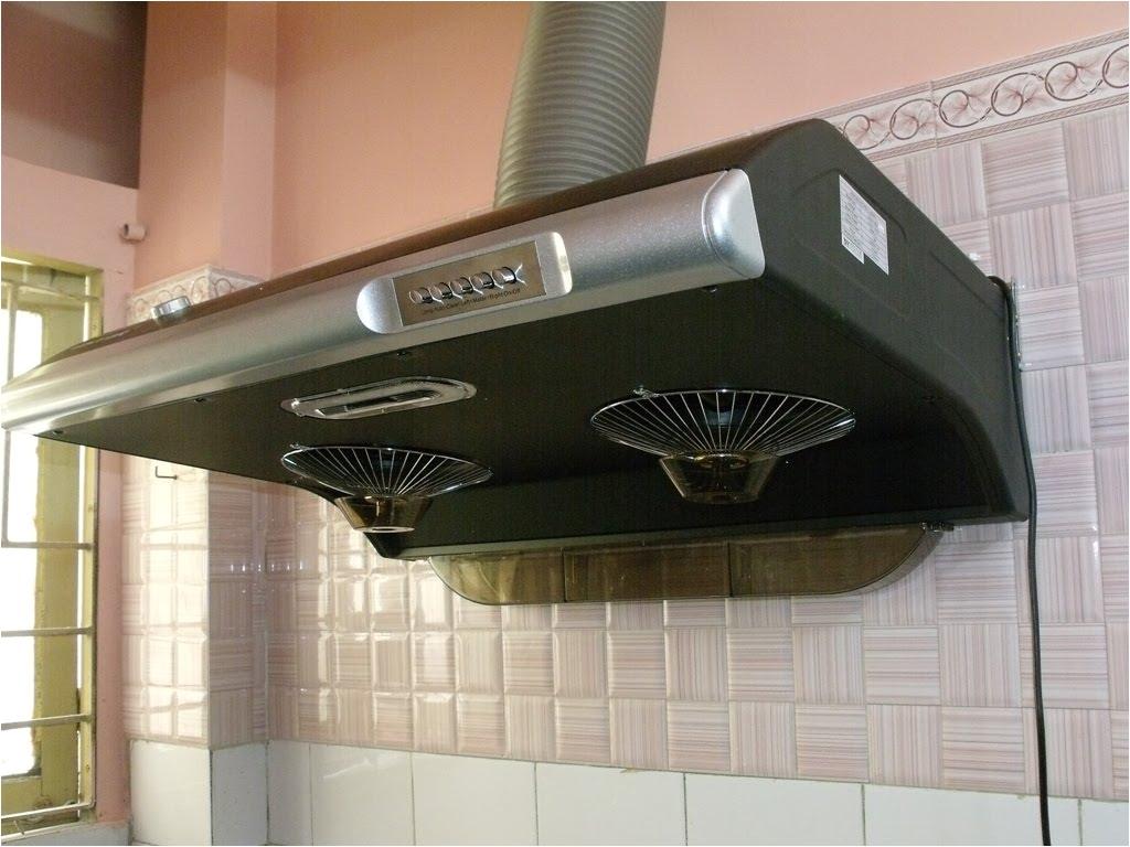 chimney exhaust fan black