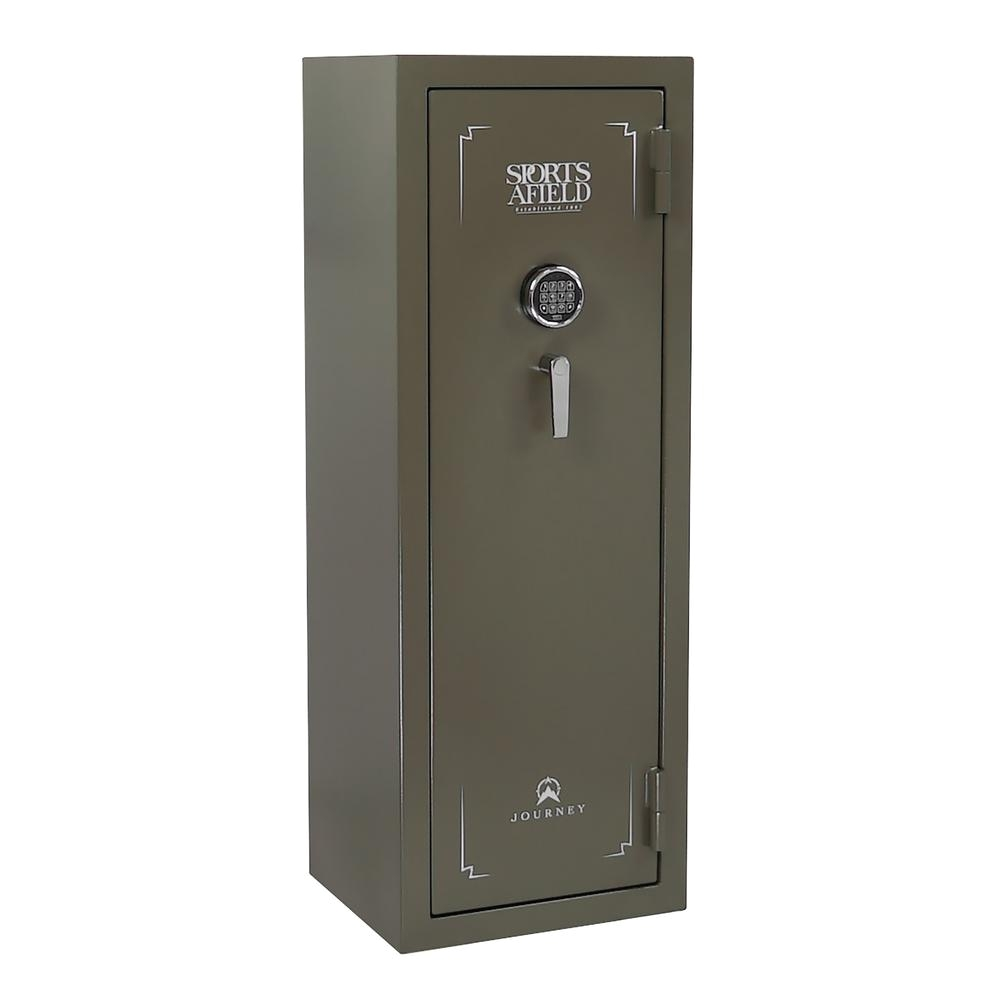 sports afield journey series 20 gun e lock gun safe od green texture