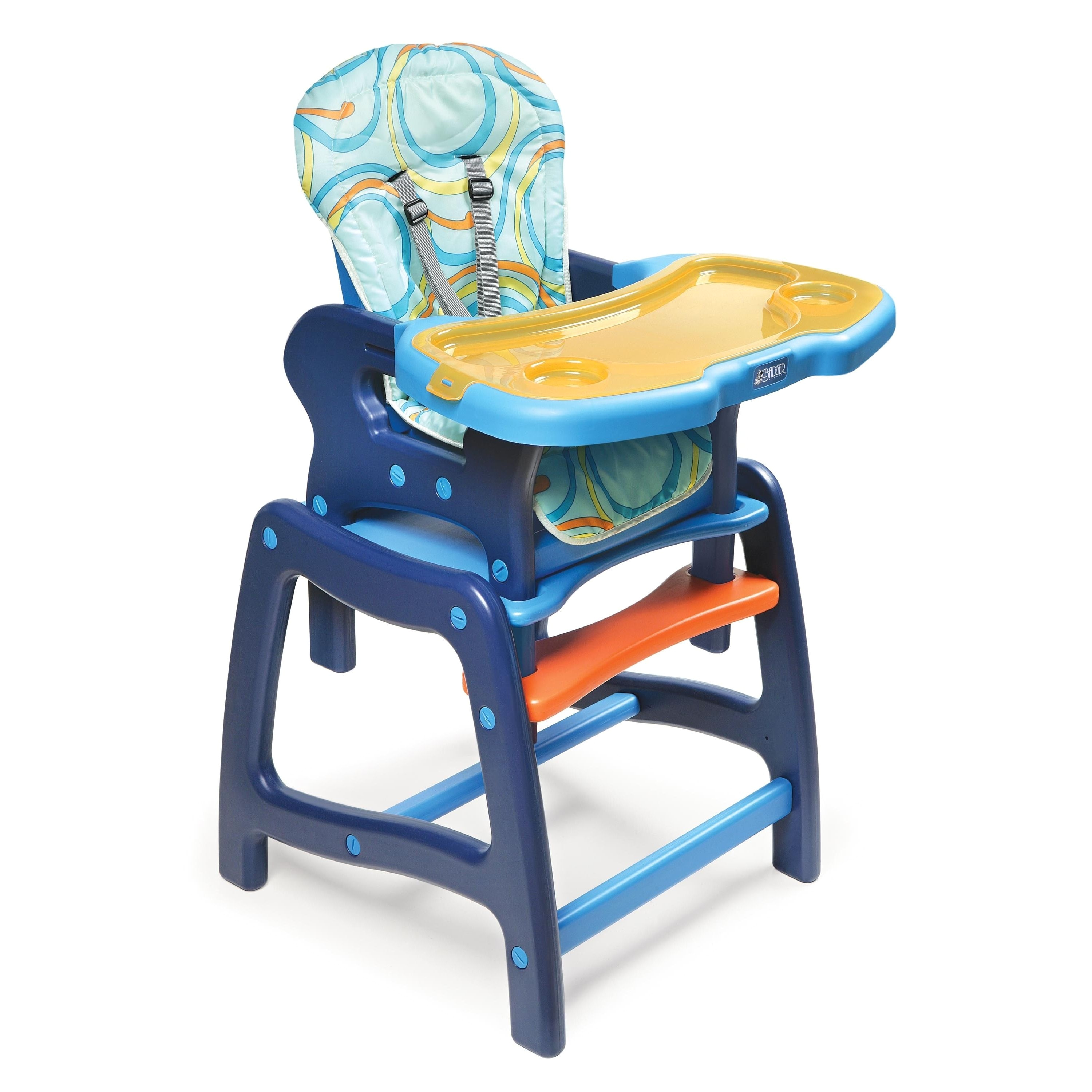 Fisher Price Table and Chairs Blue Li Badger High Chair is for Use During the First Six Years Of Your