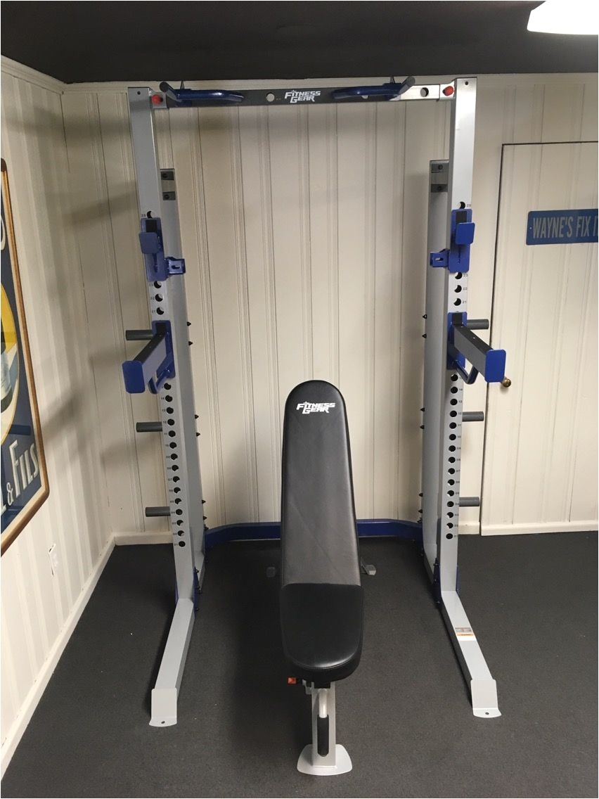 Fitness Gear Pro Full Rack 5 18 17 Fitness Gear Pro Hr600 Half Rack Utility Bench In Scarsdale