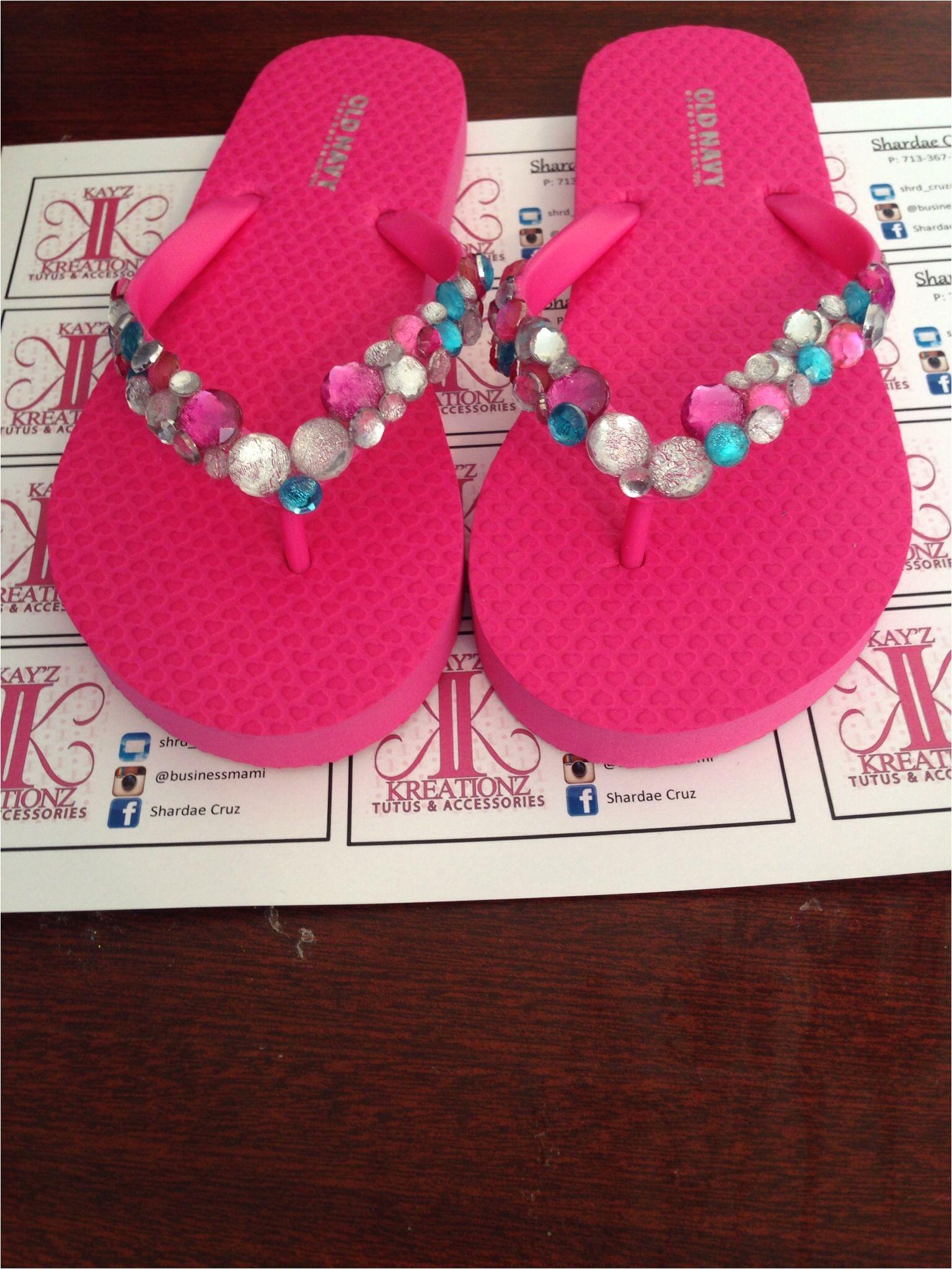 custom bling flip flops