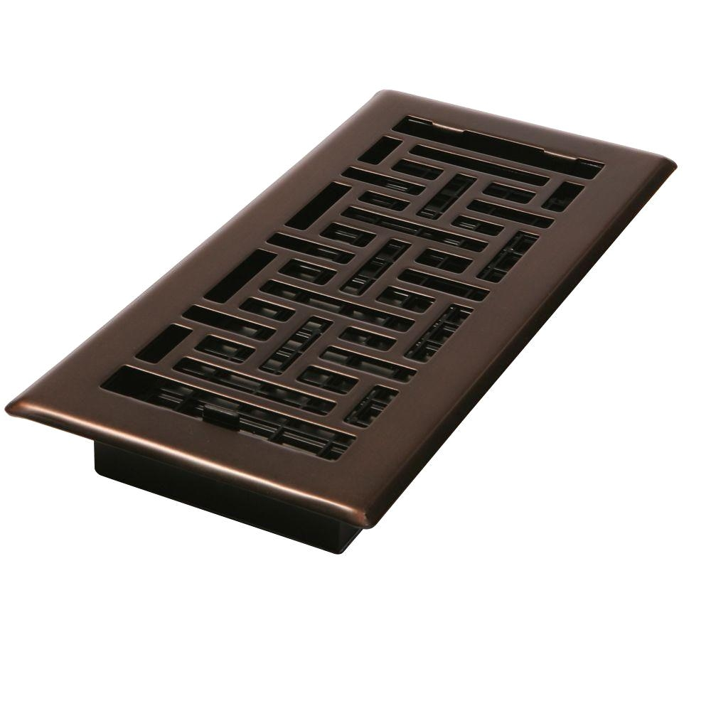 2 1 4 in x 12 in steel floor register