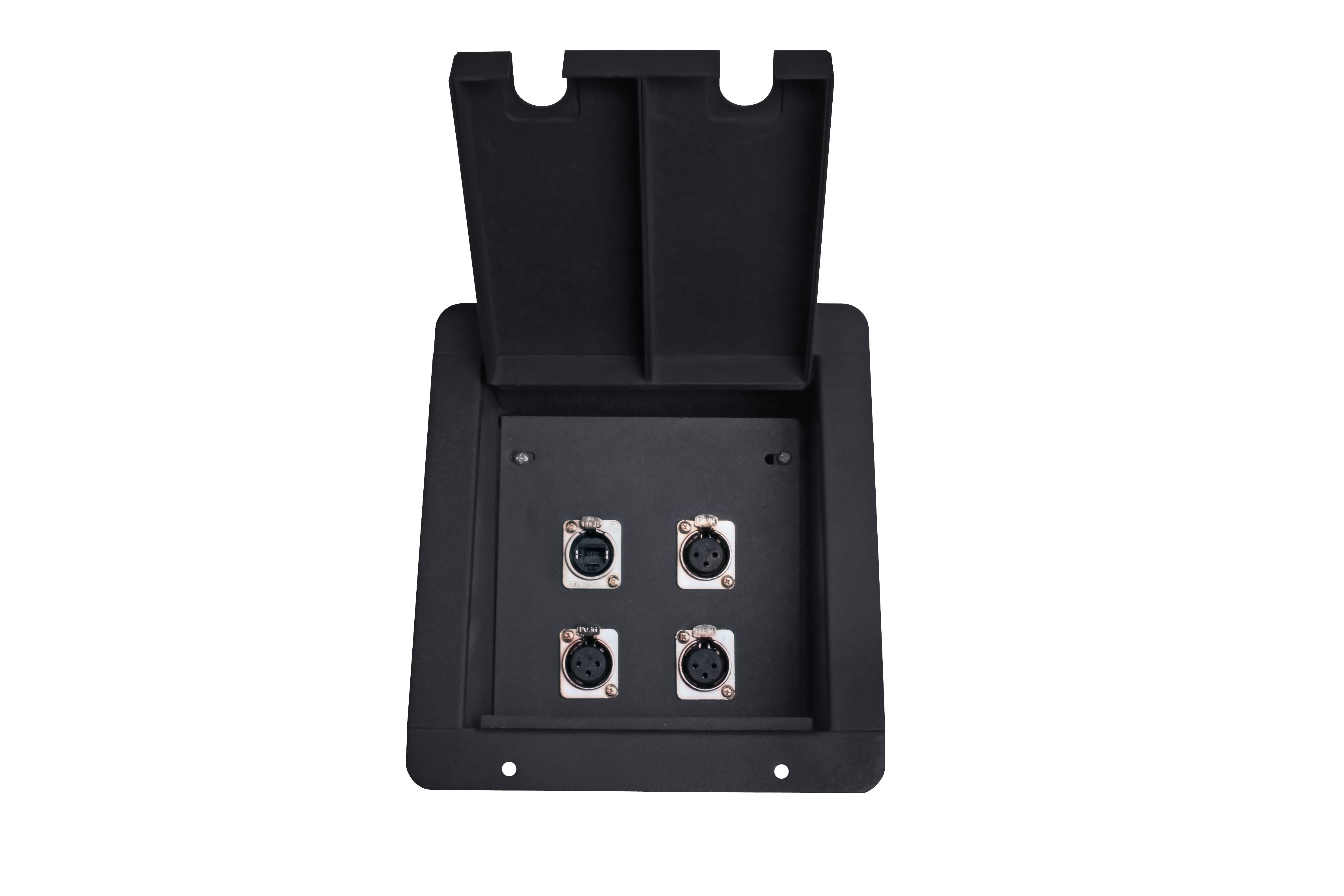 Flush Floor Receptacles Elite Core Fb4 Recessed Floor Box with 3 Xlrf 1 Ethernet Pass