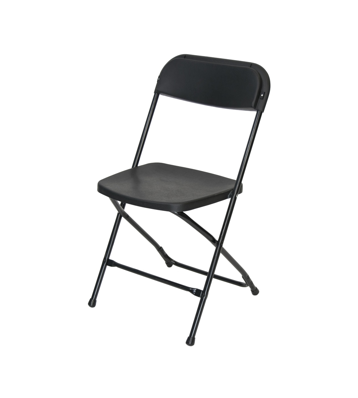 Folding Chairs Cloth Seat Black Plastic Folding Chair Premium Rental Style