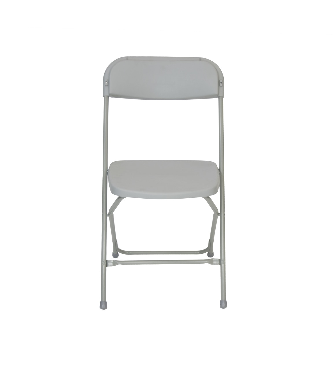 gray plastic folding chair premium rental style