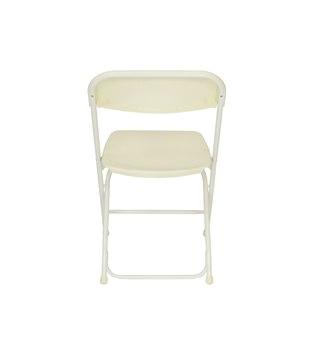 ivory plastic folding chair premium rental style