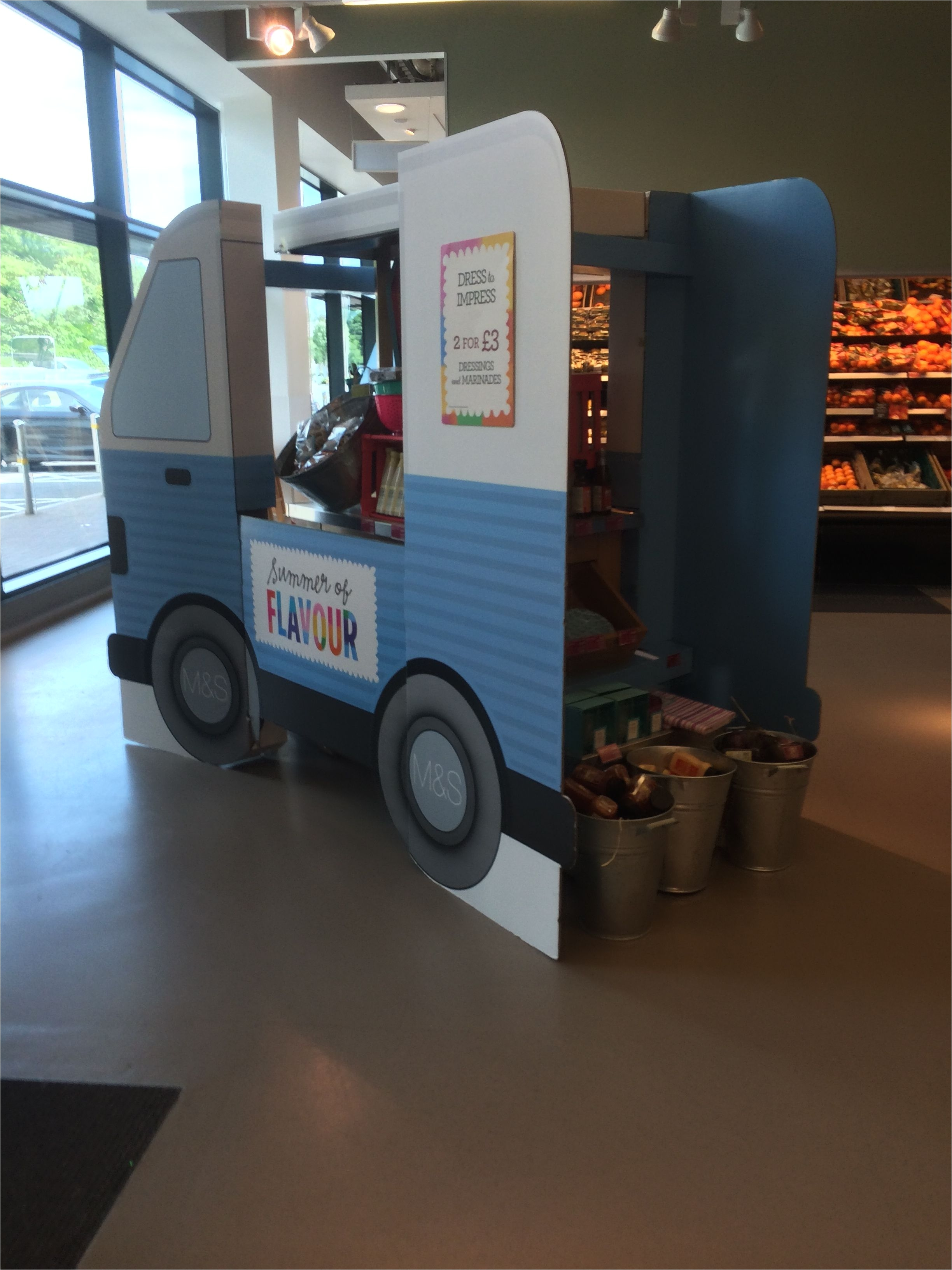 m s shoreham foodhall food supermarket layout landscape customer journey