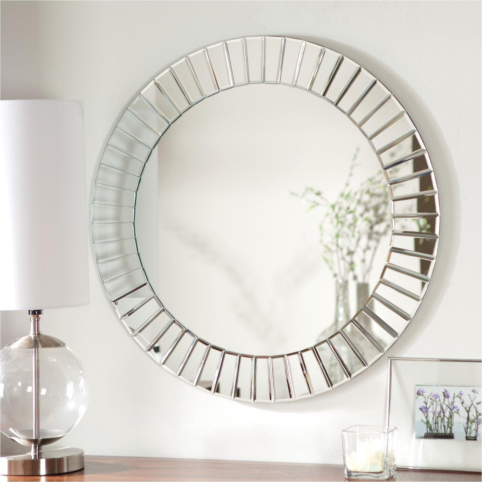 12 photos gallery of ideas frameless beveled mirror