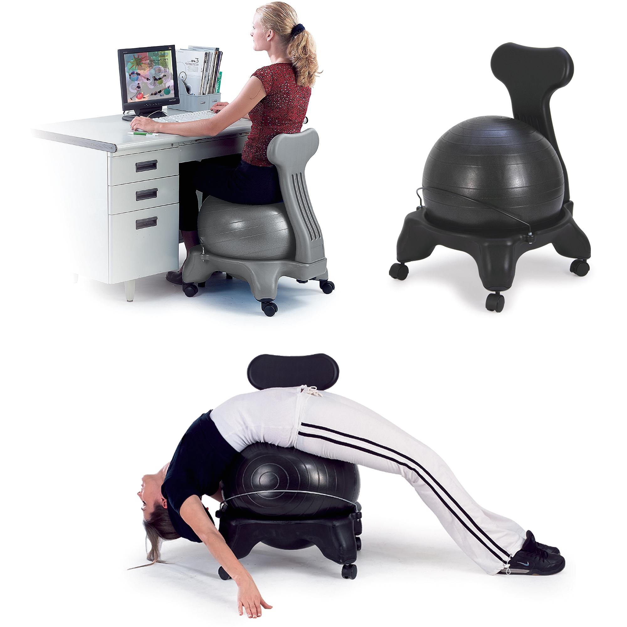 Gaiam Backless Classic Balance Ball Chair Gaiam Balance Ball Chair Black Walmart Com