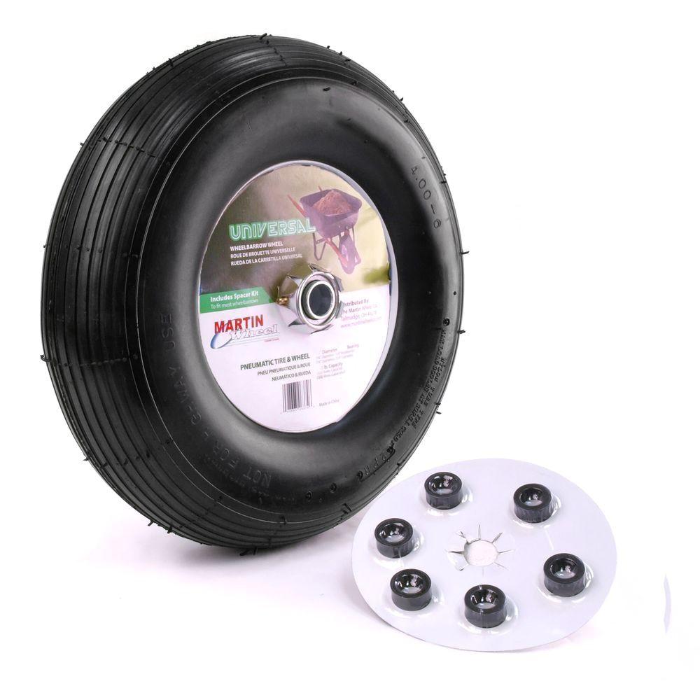 Garden Cart Replacement Wheels Martin Wheel 400 6 13 In Wheelbarrow Garden Cart Wheel with
