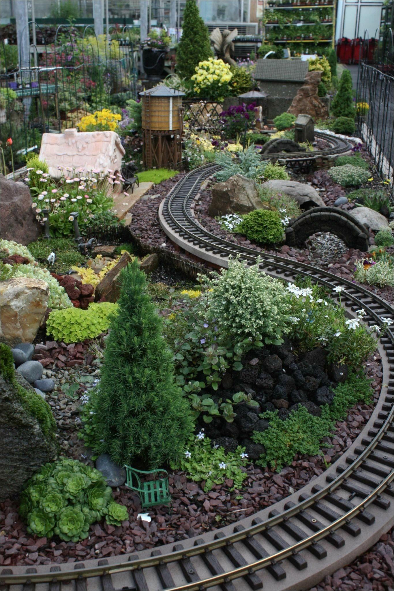 Garden Trains See This Train Chug Through the Miniature Garden at Our Fair Oaks