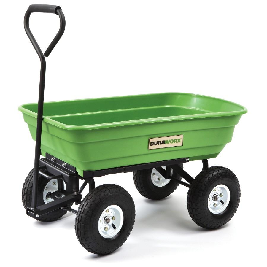 Garden Wagon Lowes Shop Duraworx Plastic Yard Cart at Lowes Com
