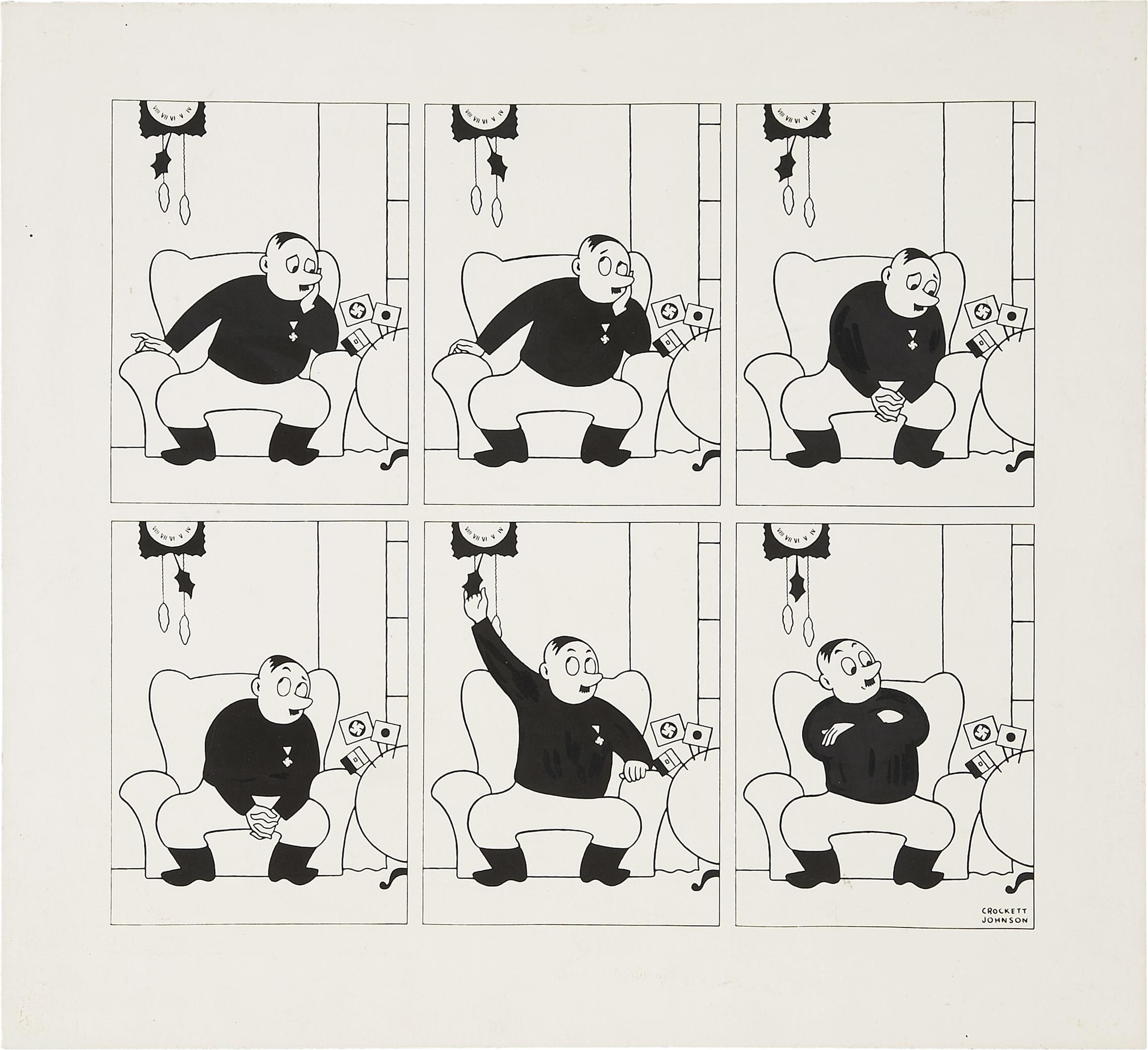 crockett johnson caricature of hitler 24 feb 1942
