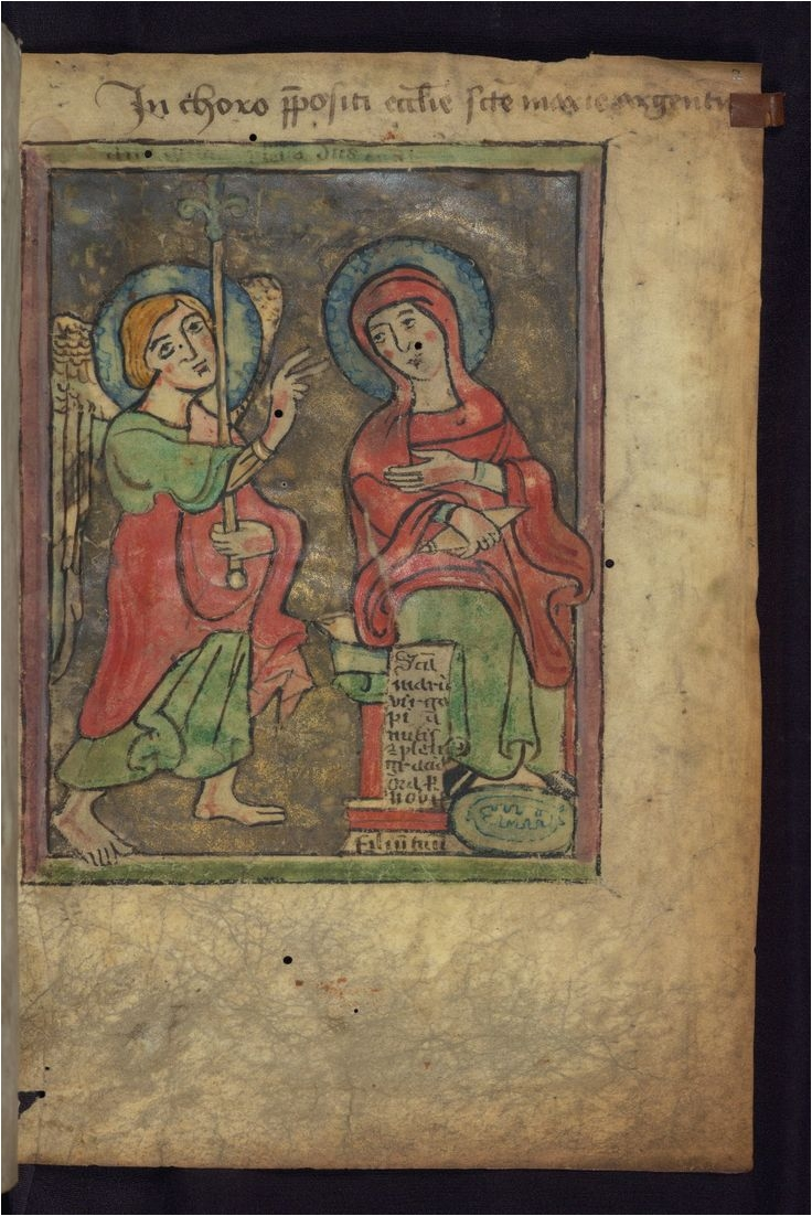 psalter of st mary of strasbourg annunciation walters manuscript fol looking for friendship meeting new people or finding love