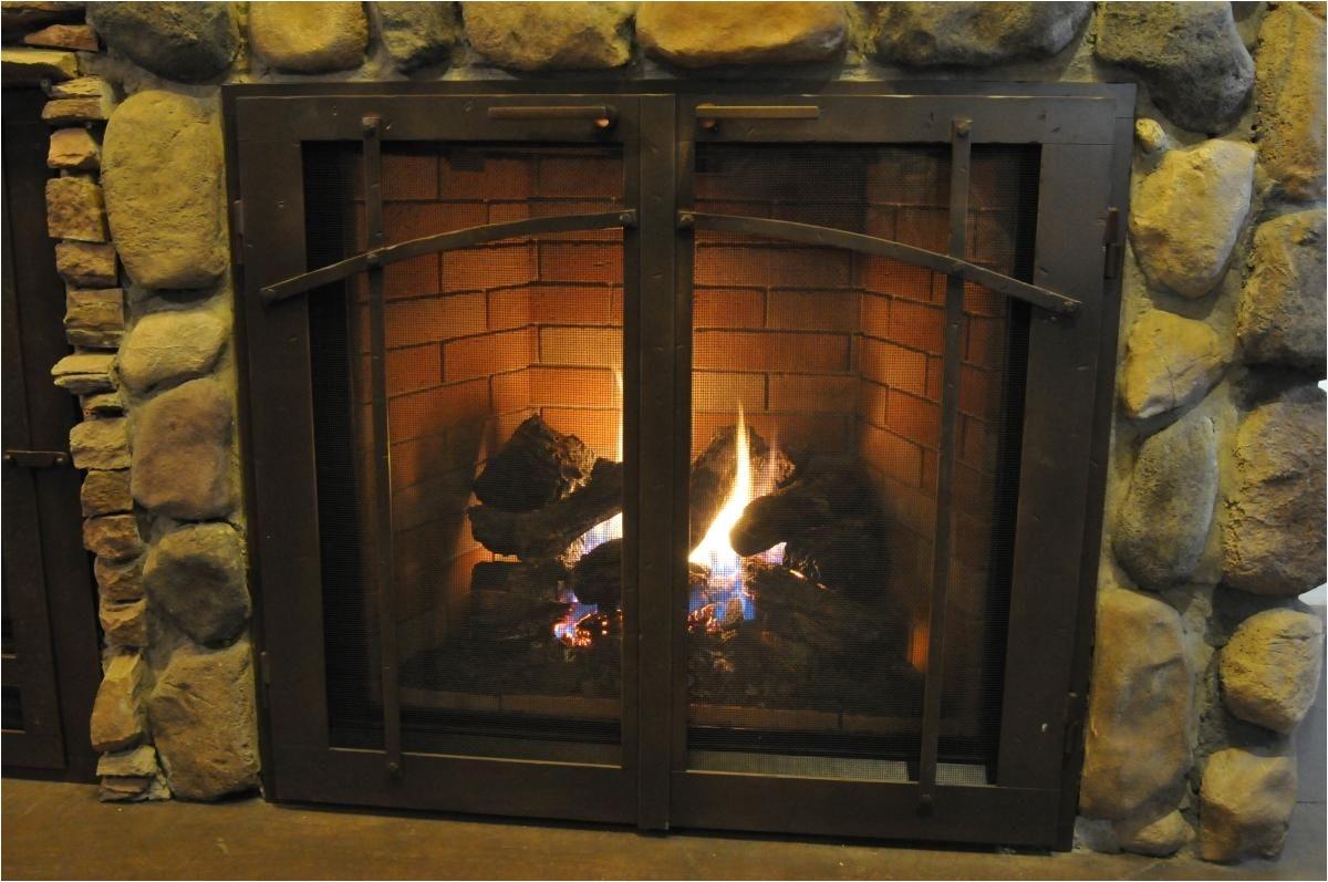 gas fireplace screens from ironhaus com
