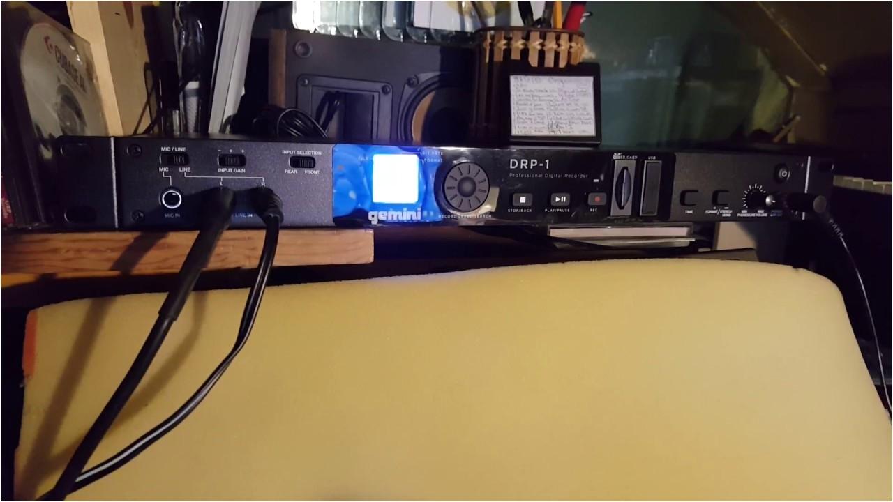 Gemini Drp-1 1u Rack-mount Digital Recorder Gemini Drp 1 Wav Mp 3 Recorder Youtube