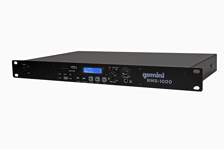 amazon com gemini rmr 1000 professional usb sd digital player recorder rack mount for home dj performance club bar pub studio stage show