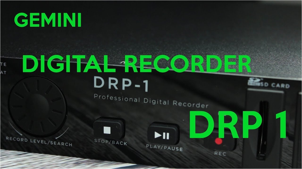 Gemini Drp 1 Rack Mount Sd Usb Digital Recorder Drp 1 Digital Recorder From Gemini Youtube