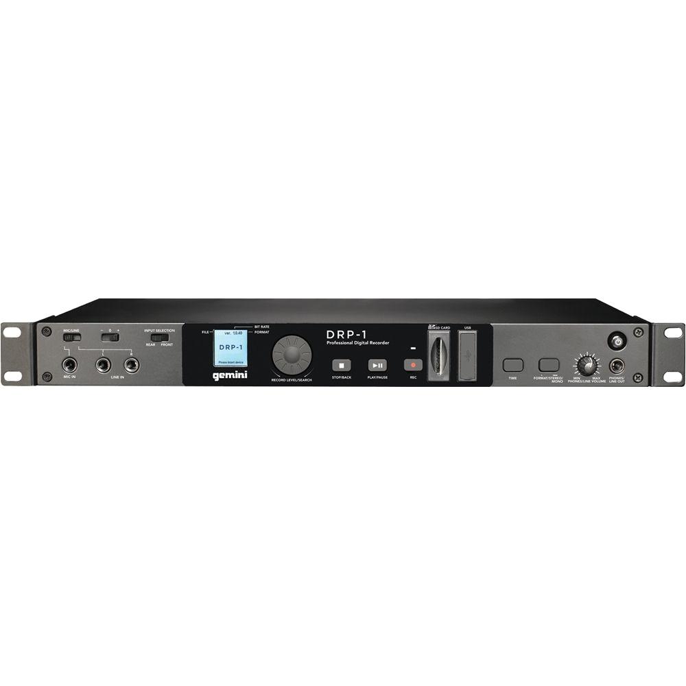 Gemini Drp 1 Rack Mount Sd Usb Digital Recorder Gemini Drp 1 Rackmount Digital Audio Recorder Drp 1 B H Photo