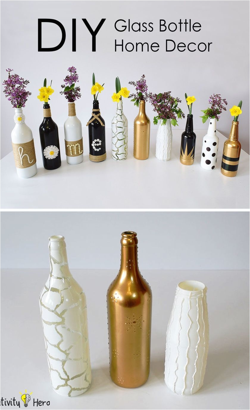 3 different methods of creating some wonderful home decor out of old bottles to brighten up any room