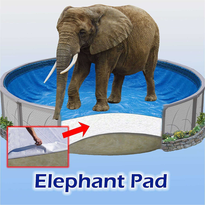 amazon com 12x18 ft oval pool liner pad elephant guard armor shield padding garden outdoor