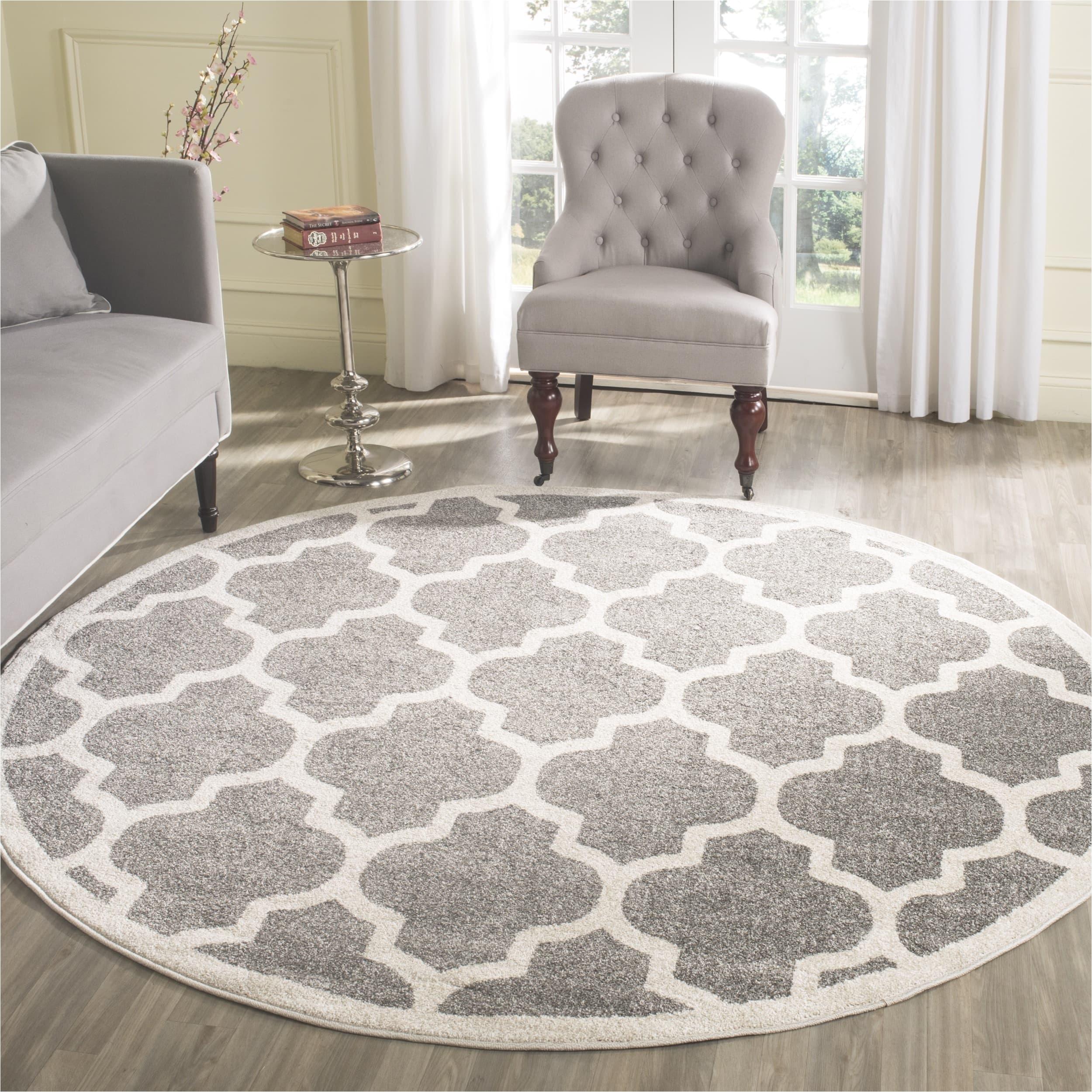 safavieh indoor outdoor amherst dark grey beige rug 9 round free shipping today overstock 16688639