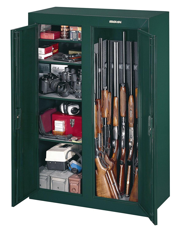 amazon com stack on gcdg 9216 16 gun convertible double door steel security cabinet home improvement
