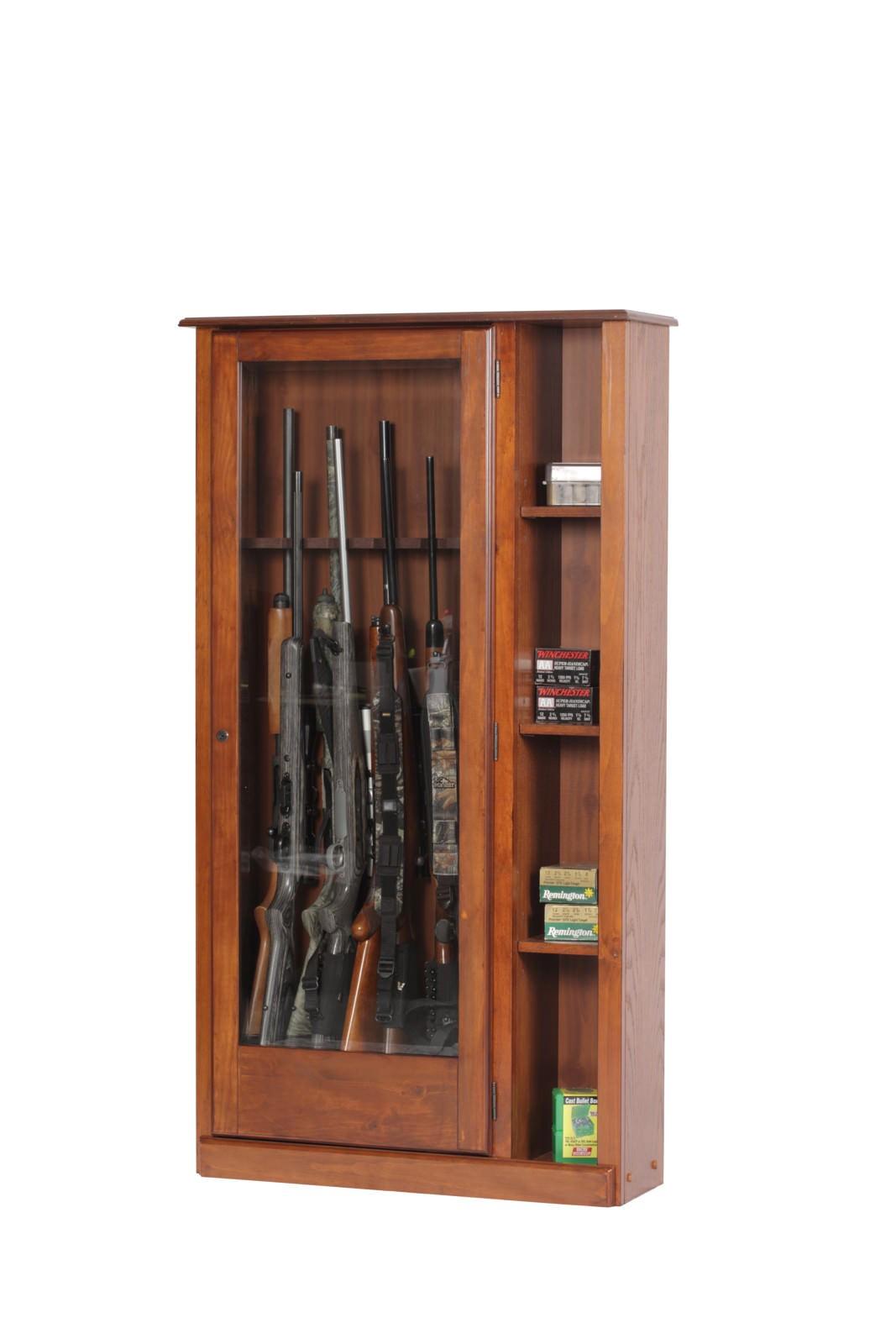 american furniture classics 725 wood curio gun combination storage cabinet 10 l ebay
