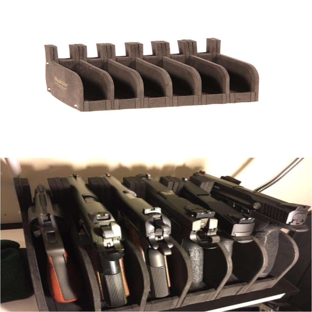 6 gun safe pistol rack holder storage organizer handgun display stand cabinet 709153217869 ebay