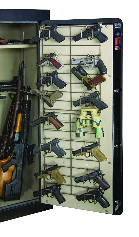 amazon com rack em the maximizer 16 pistol in safe handgun rack full door sports outdoors