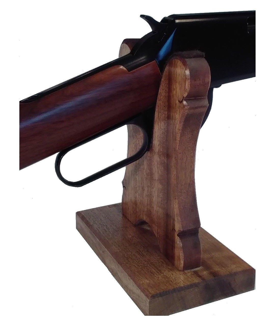 oak gun rack stand presentation table top display rifle shotgun lever ebay