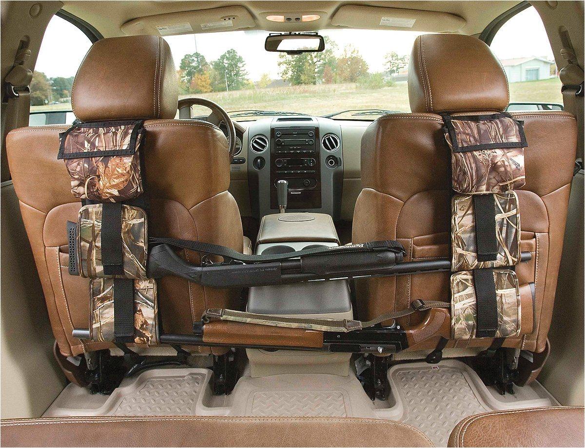 portable multi function camouflage hunting bag for car rear seat belt gun rack travel hunt supplies muti pockets shotgun sling