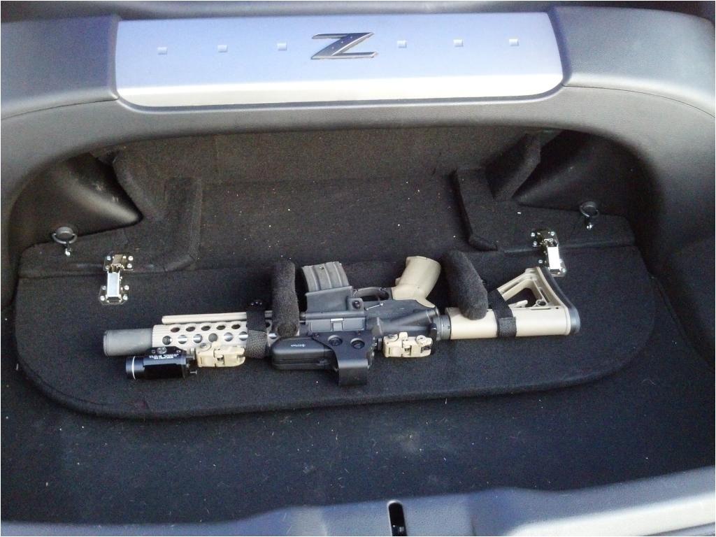 nissan 350z hidden gun mount