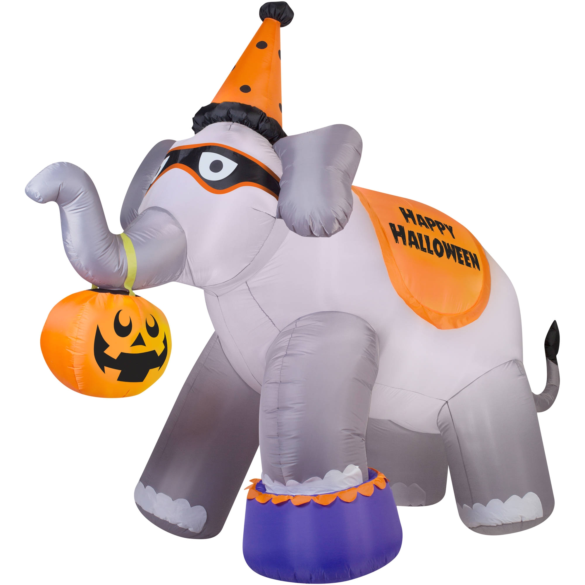 gemmy airblown inflatable 9 x 11 giant elephant halloween decoration walmart com