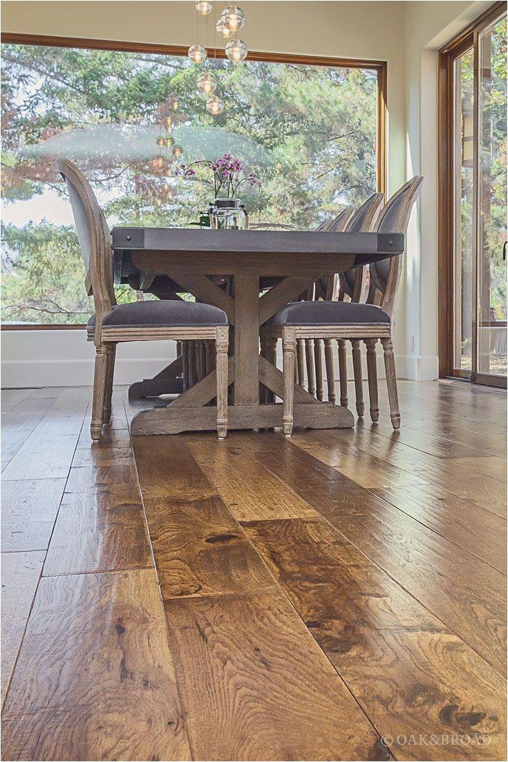 Hand Nailing Hardwood Floors Custom Hand Scraped Hickory Floor In Cupertino Pinterest Wide