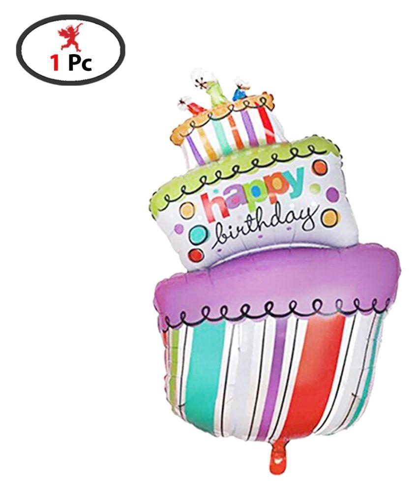 happy birthday foil balloon 1 pics and 25 pics multicolored balloon combo birthday decoration