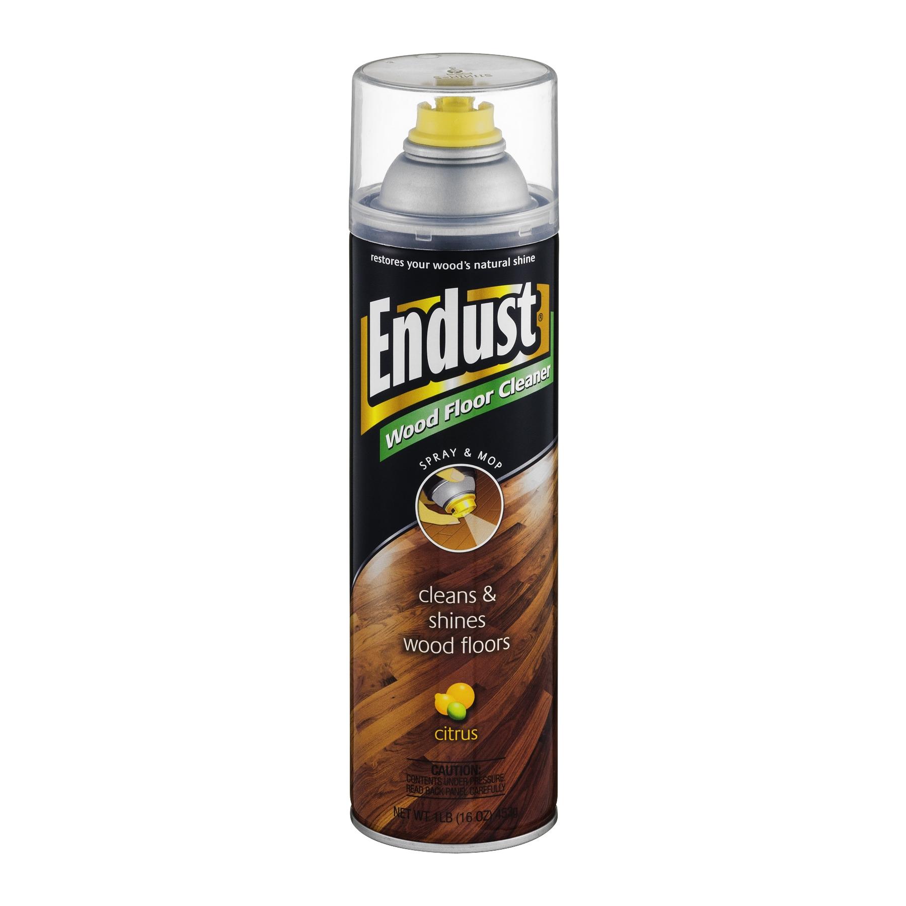 Hardwood Floor Cleaners at Walmart Endust Citrus Wood Floor Cleaner 16 Oz Walmart Com