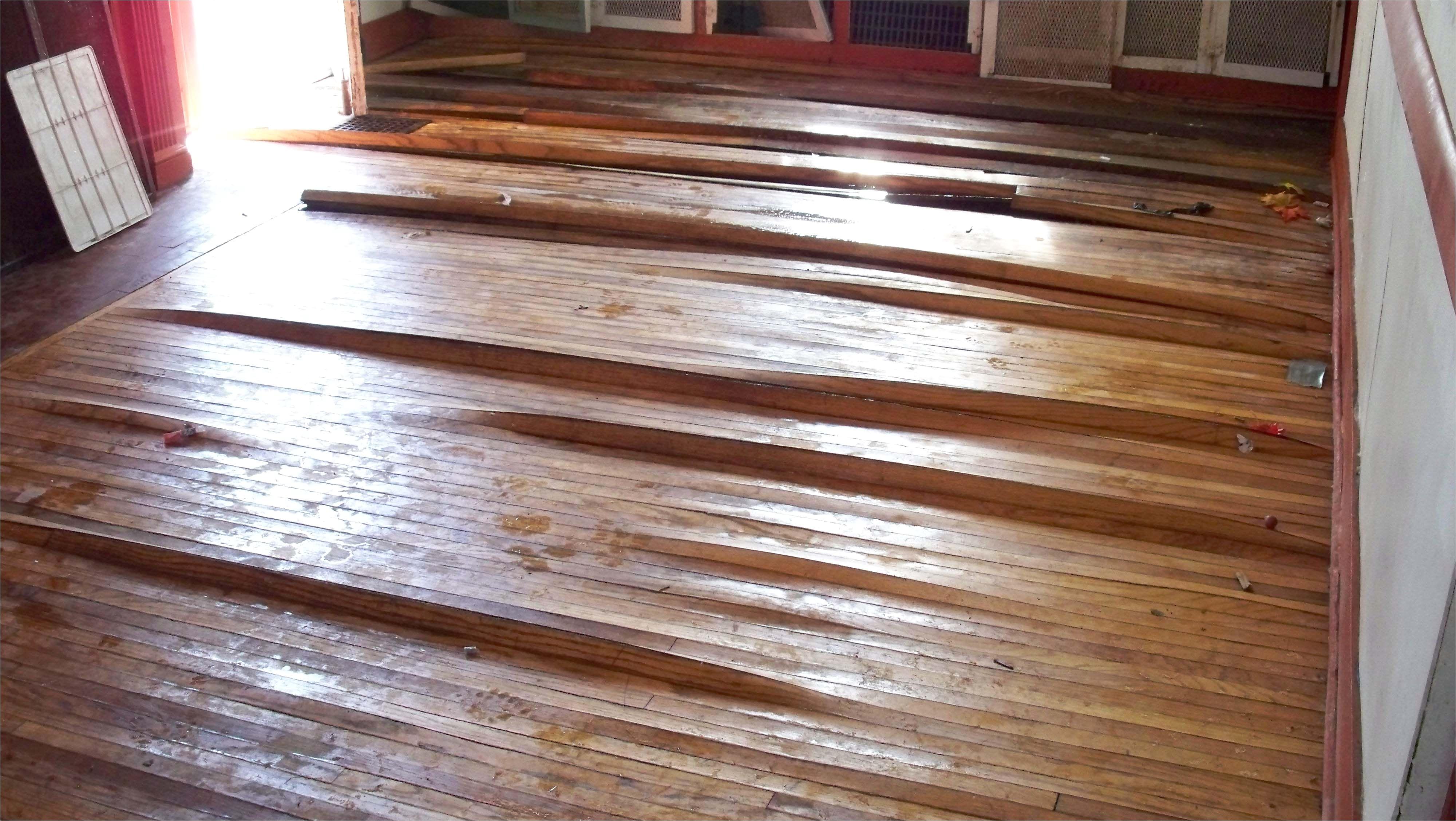 hardwood floor water damage warping