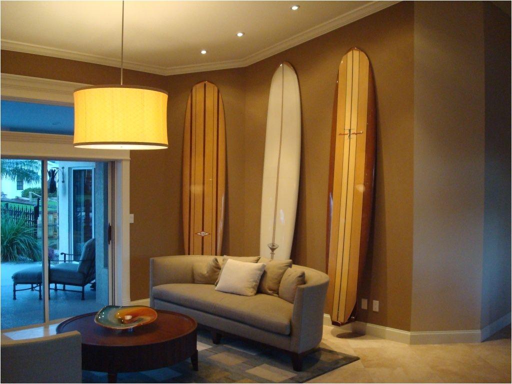 sustainable wooden surfboard storage hawaiian gun rack