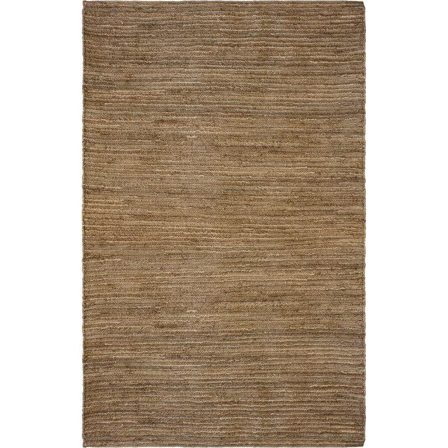 korhani home disalla rectangular beige solid jute area rug lowe s canada