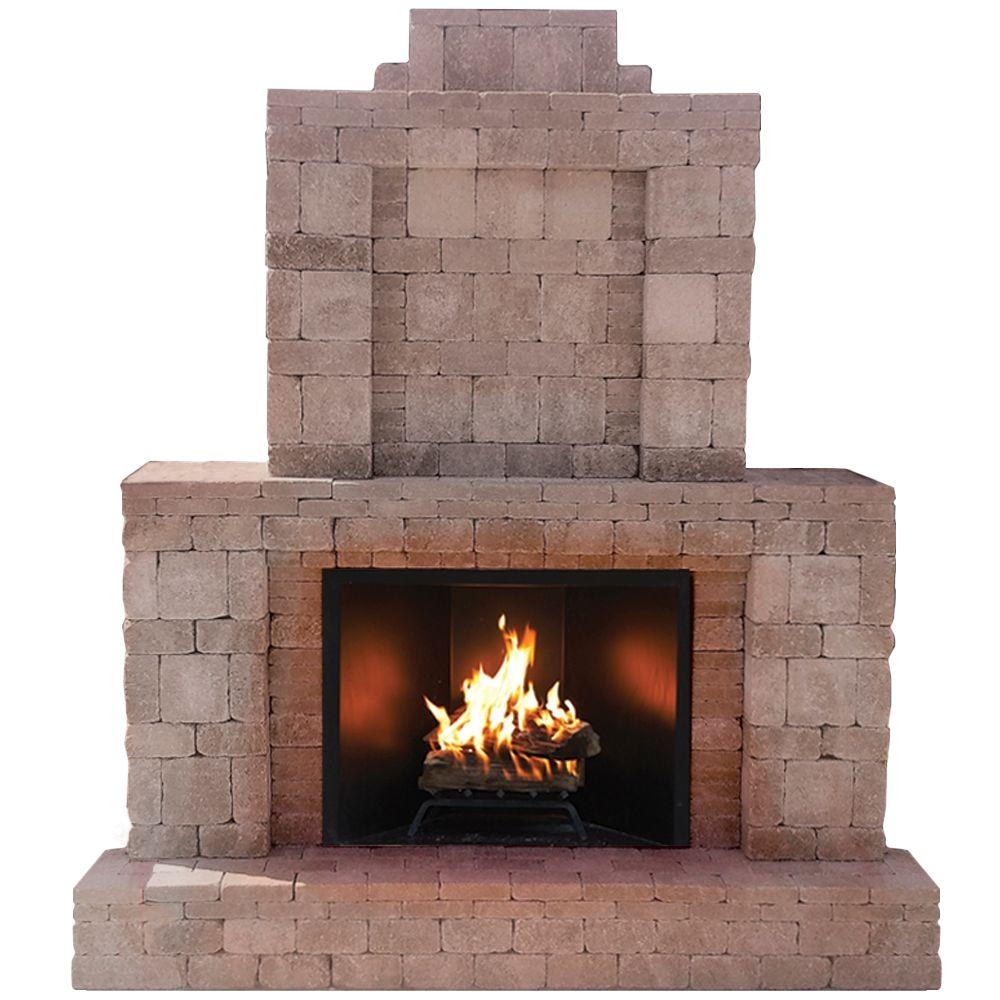 rumblestone 84 in x 38 5 in x 94 5 in outdoor stone fireplace in