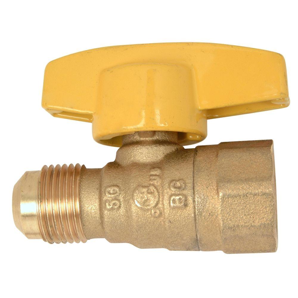 Home Depot Gas Fireplace Key Brasscraft 1 2 In Od Flare X 1 2 In Fip Gas Ball Valve Pssd 41