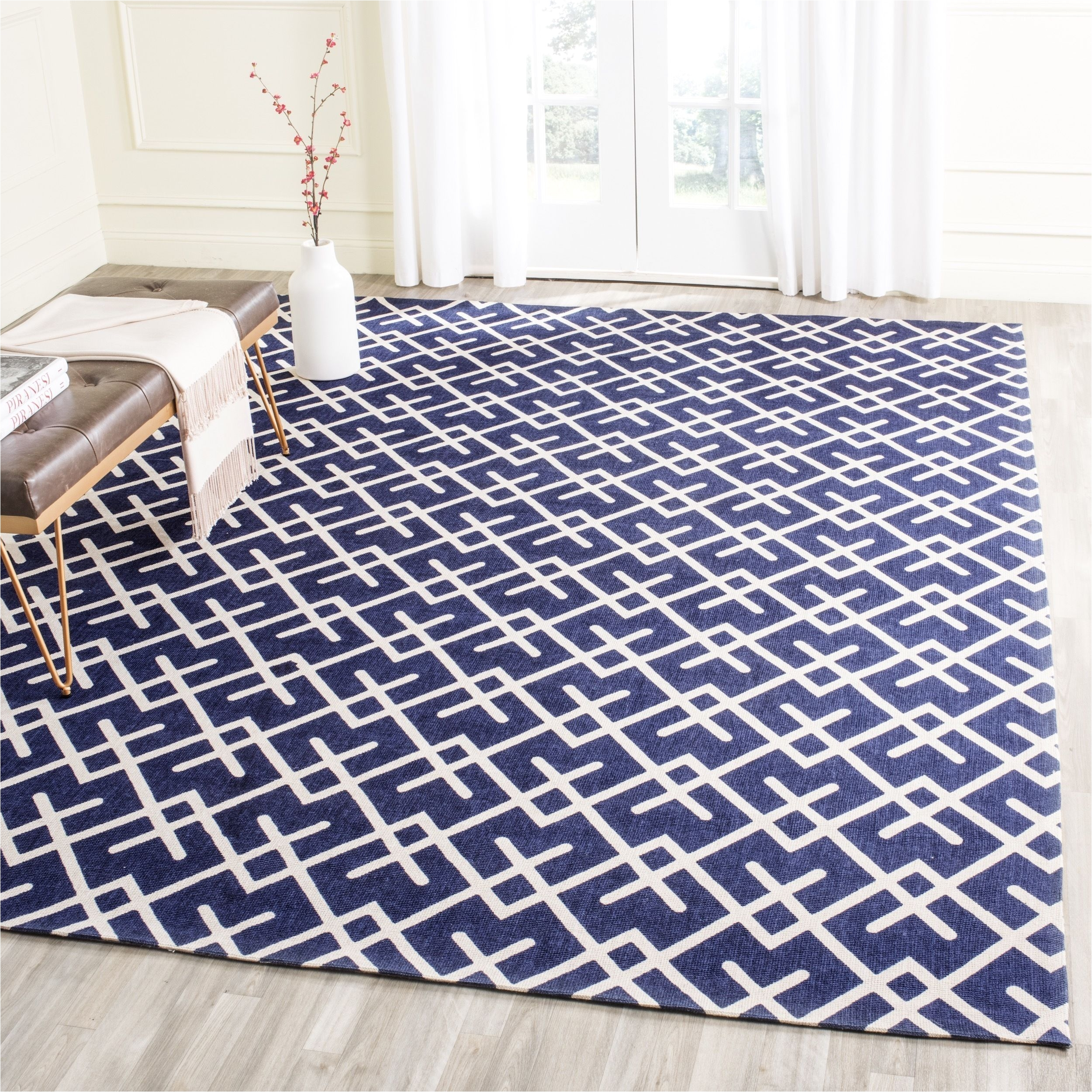 safavieh handmade cedar brook navy blue ivory jute rug 8 x