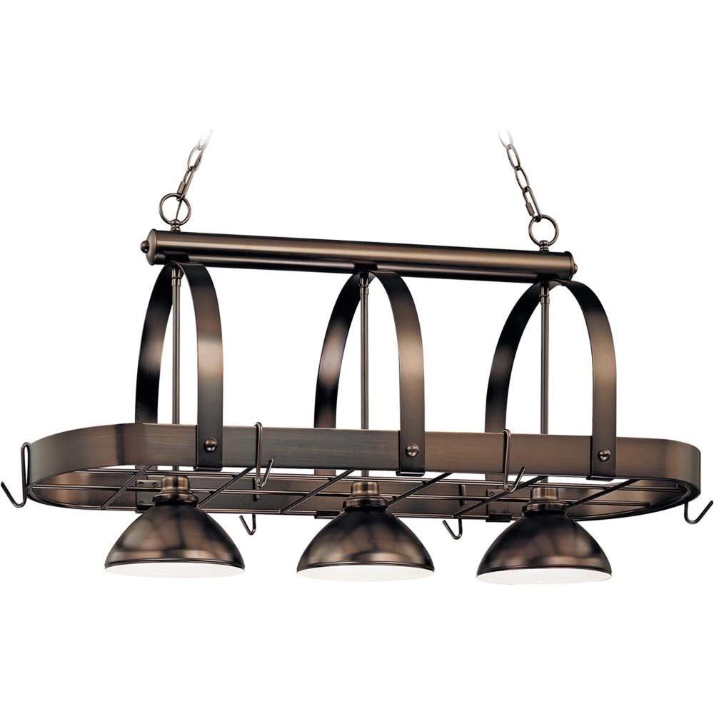 piquant volume lighting bronze pot rack homedepot volume lighting bronze pot rack in lighted hanging pot