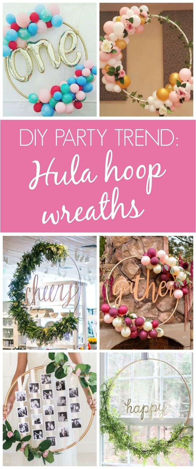 13 awesome diy hula hoop wreaths pretty my party