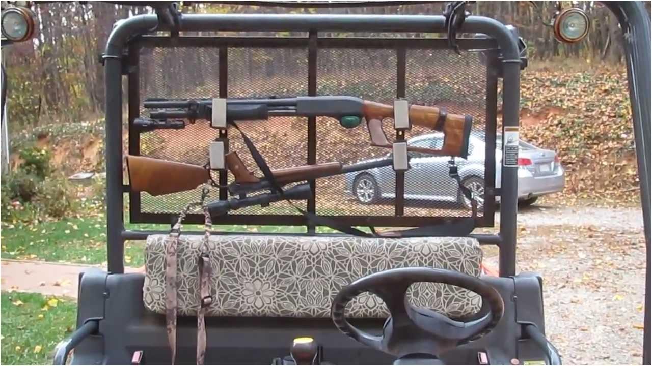 diy gun rack for the kubota rtv 900