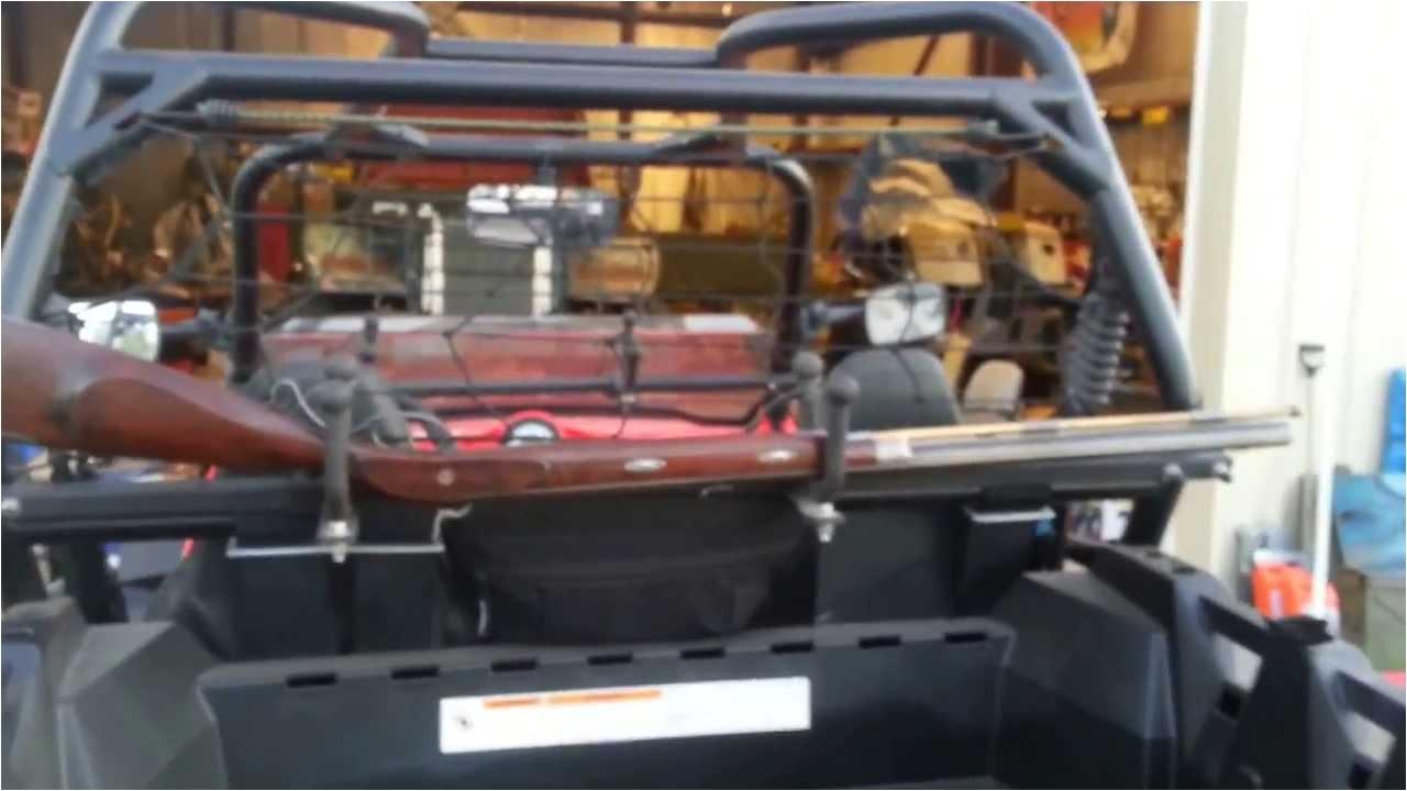 Homemade Gun Rack for Utv Home Built Polaris Rzr Xp Utv Gun Racks by Itchy Youtube