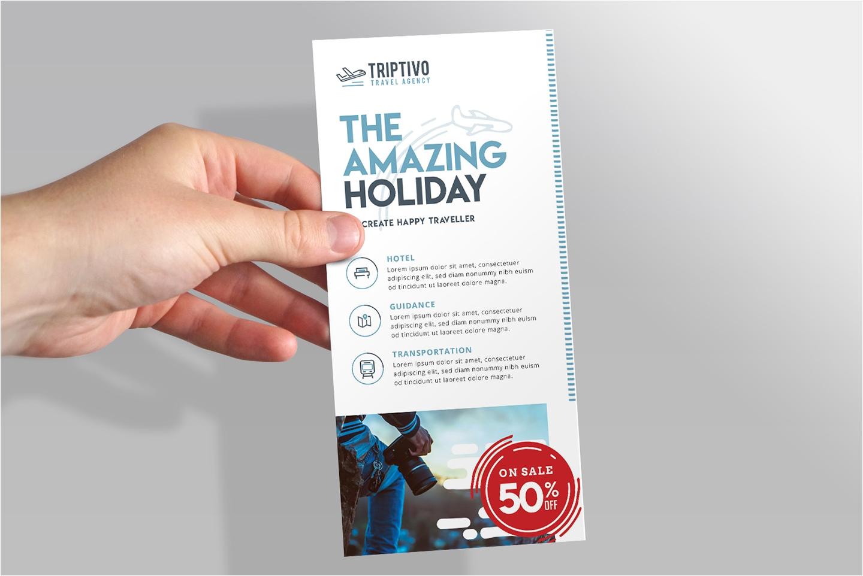 Hotel Rack Card Size Free Dl Rack Card Template Mockup Psd for Photoshop Brandpacks