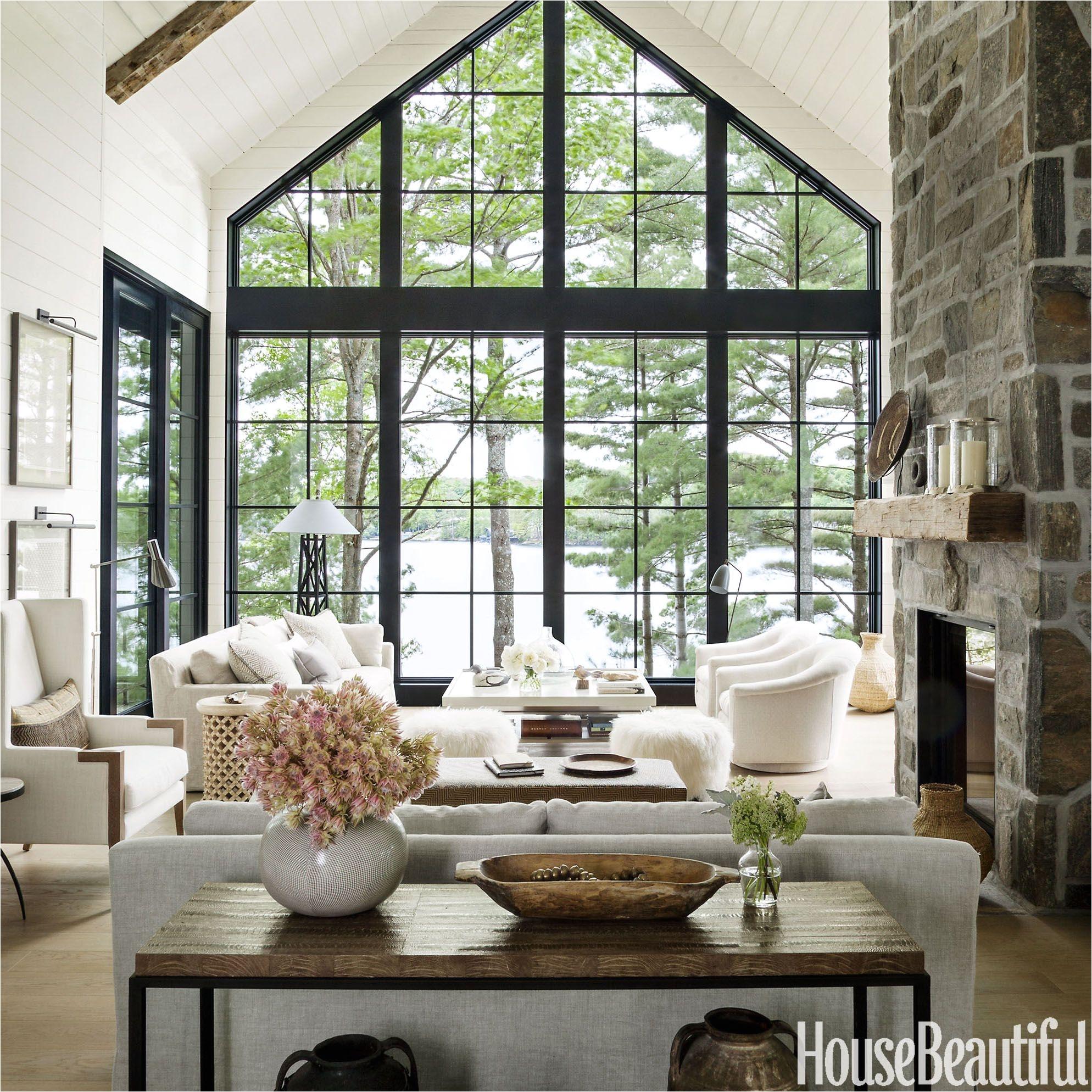 interior designer anne hepfer s modern rustic summer lake house in muskoka