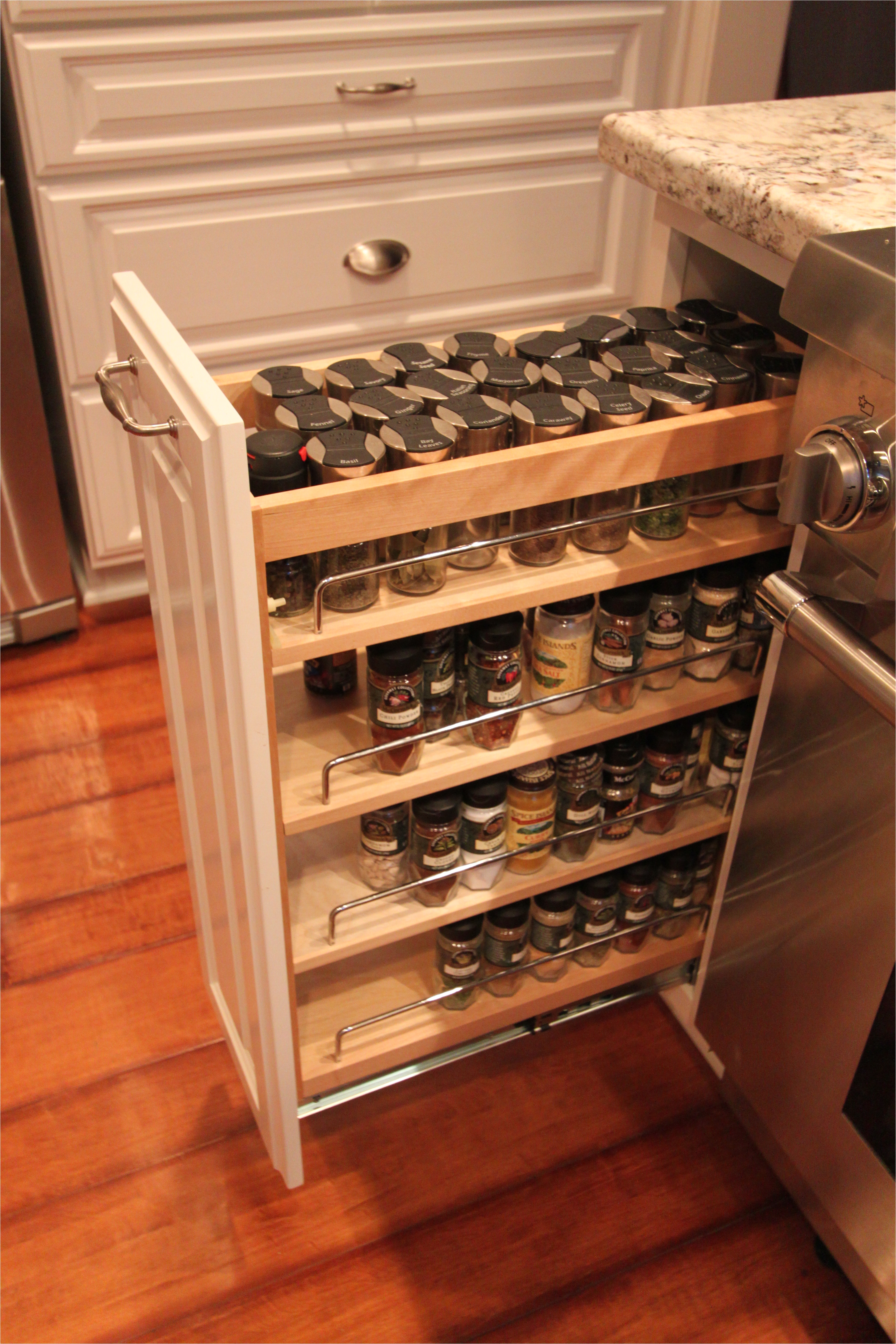 elegant pull out spice cabinet 15